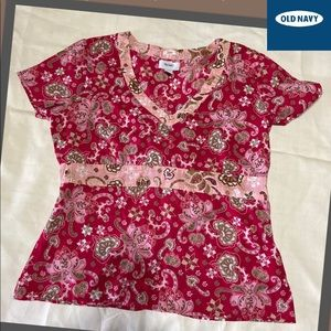 Old Navy Women's Top with Tie in Back, size XL